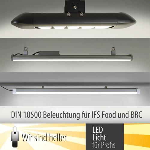 led beleuchtung nach din 10500 f r ifs food und brc zertifizierte betriebe neue pressemitteilungen. Black Bedroom Furniture Sets. Home Design Ideas